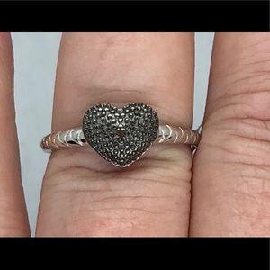 Genuine Red Diamond Accent Ring